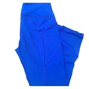 Lululemon crop leggings - bright blue color